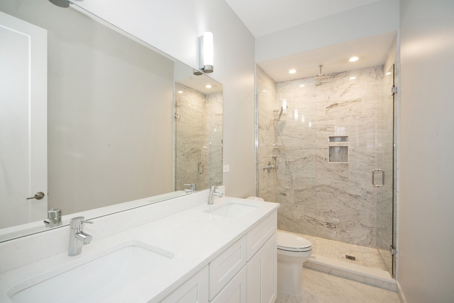 Real Estate Photography - 1466 W. Winona Street, Unit 3, Chicago, IL, 60640 - Master Bathroom