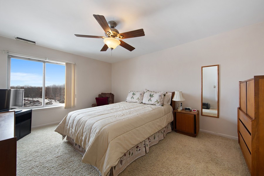 Real Estate Photography - 2201 S. Grace Street, Unit 507, Lombard, IL, 60148 - Master Bedroom