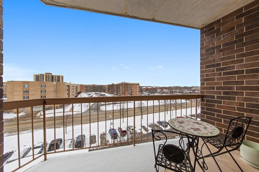 Real Estate Photography - 2201 S. Grace Street, Unit 507, Lombard, IL, 60148 - Balcony