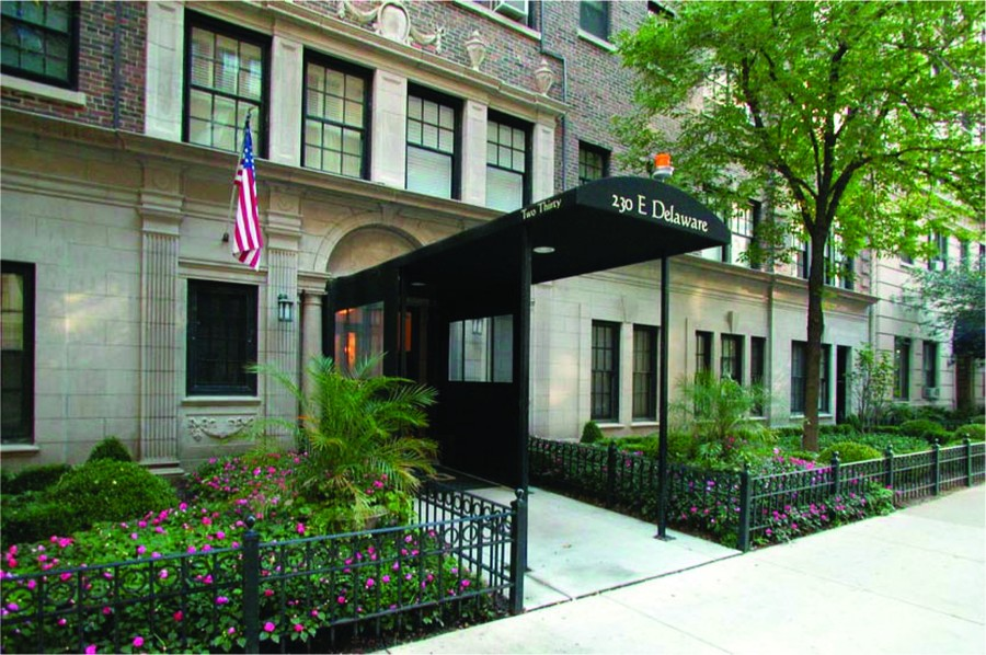 Real Estate Photography - 230 E. Delaware Place, Unit 6E, Chicago, IL, 60611 - Front View