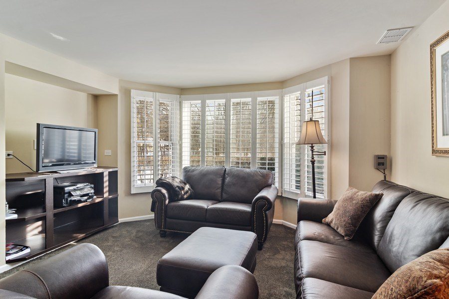 Real Estate Photography - 129 KNOCKDERRY Lane, Inverness, IL, 60067 - Lower level family room