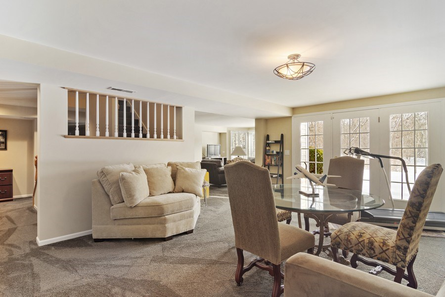 Real Estate Photography - 129 KNOCKDERRY Lane, Inverness, IL, 60067 - Lower level rec room