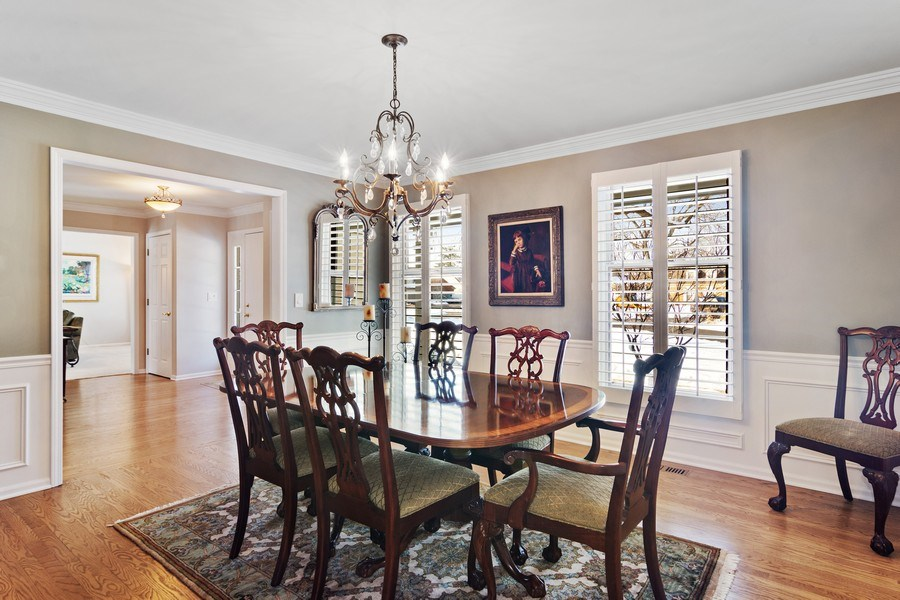 Real Estate Photography - 129 KNOCKDERRY Lane, Inverness, IL, 60067 - Dining room