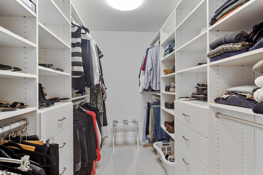 Real Estate Photography - 129 KNOCKDERRY Lane, Inverness, IL, 60067 - Master Bedroom Closet