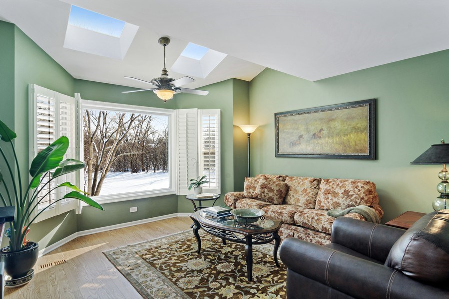 Real Estate Photography - 129 KNOCKDERRY Lane, Inverness, IL, 60067 - Den