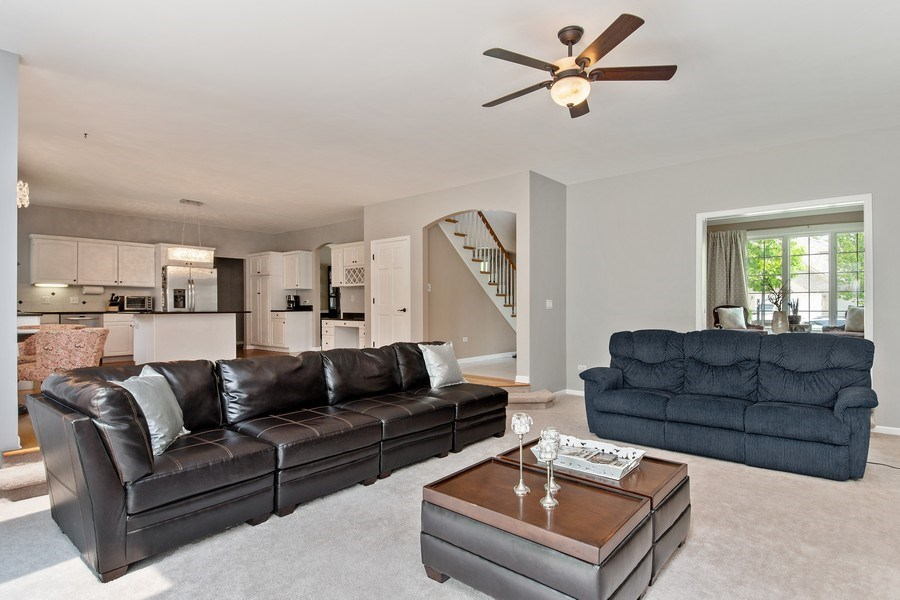 Real Estate Photography - 2220 Palmer Circle, Naperville, IL, 60564 - Family Room