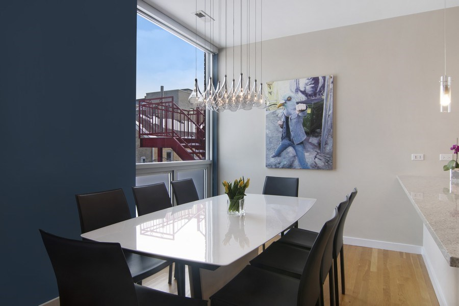 Real Estate Photography - 1721 N. SHEFFIELD Avenue, Unit 202, Chicago, IL, 60614 - Dining Room