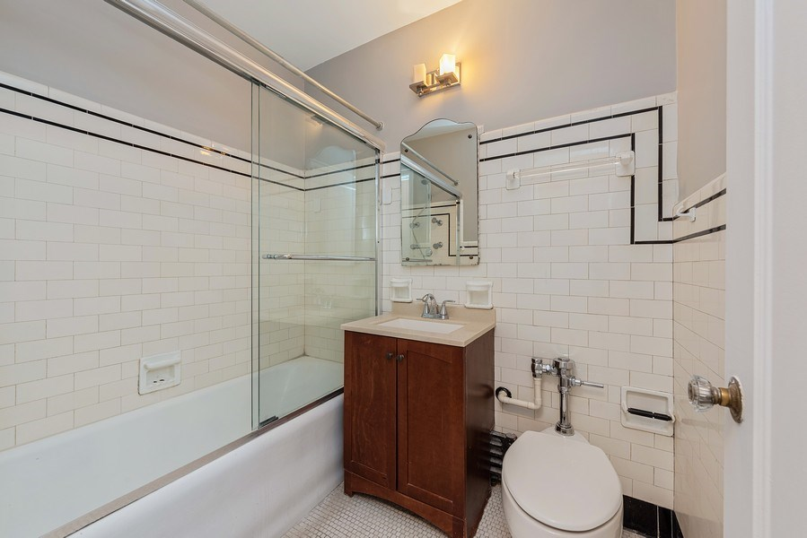 Real Estate Photography - 421 W. Melrose Street, Unit 12C, Chicago, IL, 60657 - Master Bathroom