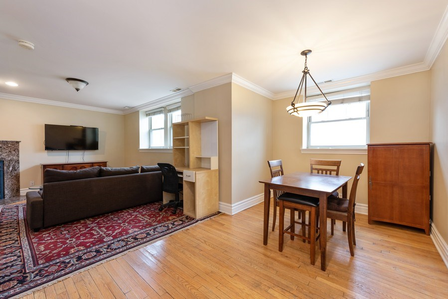 Real Estate Photography - 2133 N. Kedzie Boulevard, Unit G, Chicago, IL, 60647 - Living Room / Dining Room
