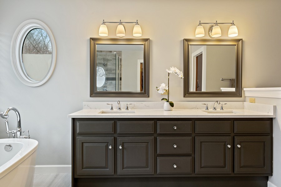 Real Estate Photography - 425 E. Oak Avenue, Wheaton, IL, 60187 - Master Bathroom