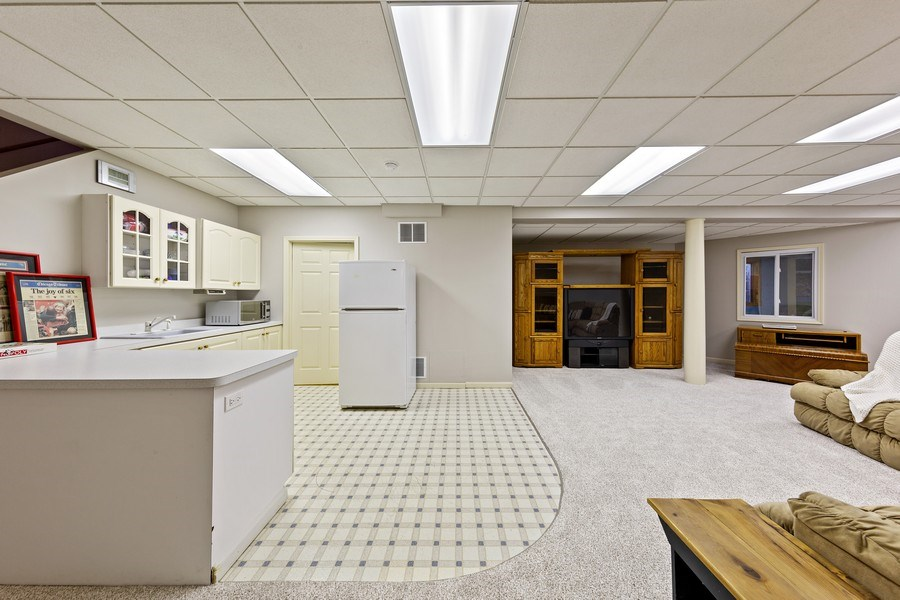 Real Estate Photography - 425 E. Oak Avenue, Wheaton, IL, 60187 - Basement Kitchen