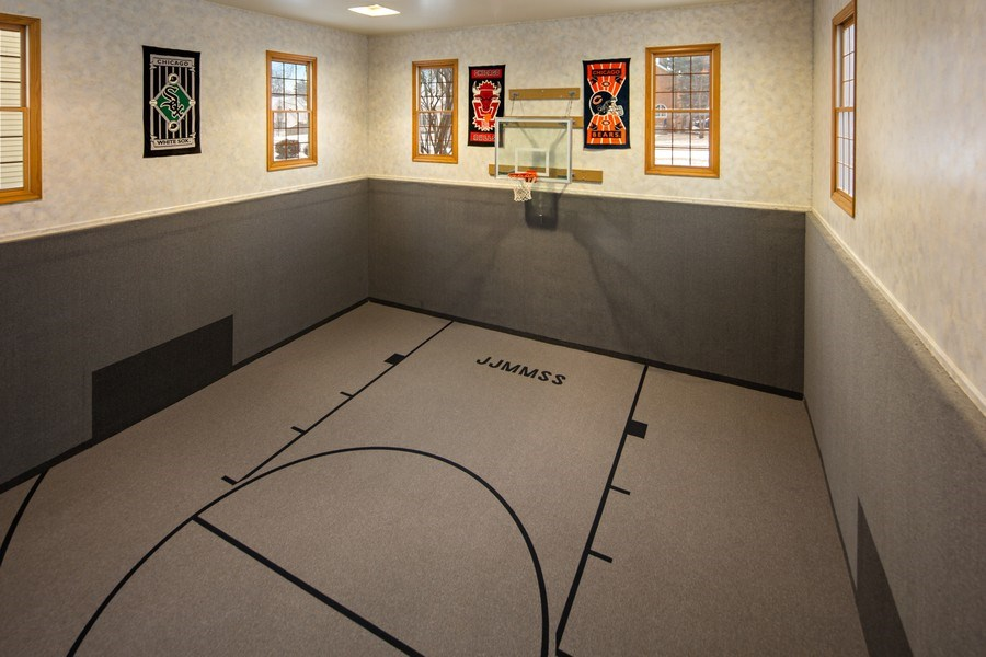Real Estate Photography - 425 E. Oak Avenue, Wheaton, IL, 60187 - Basketball Court