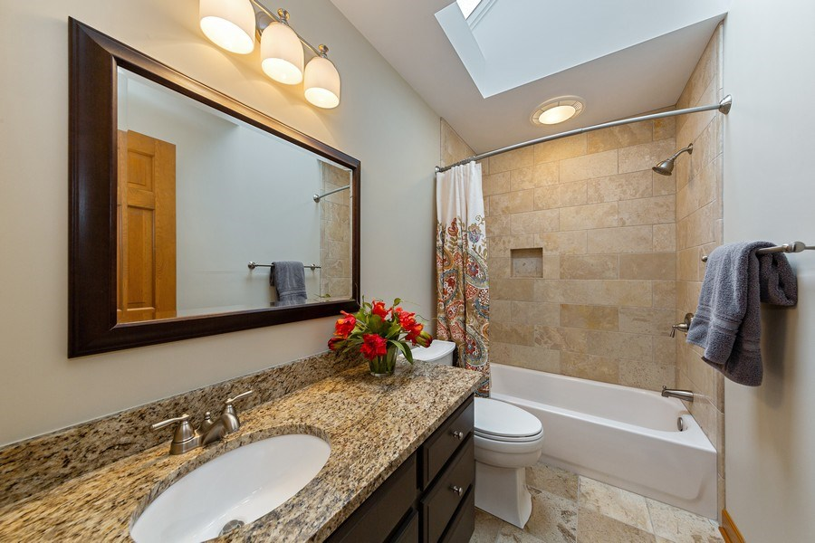 Real Estate Photography - 425 E. Oak Avenue, Wheaton, IL, 60187 - 2nd Floor Hall Bath (close to Bedrooms 2-4)