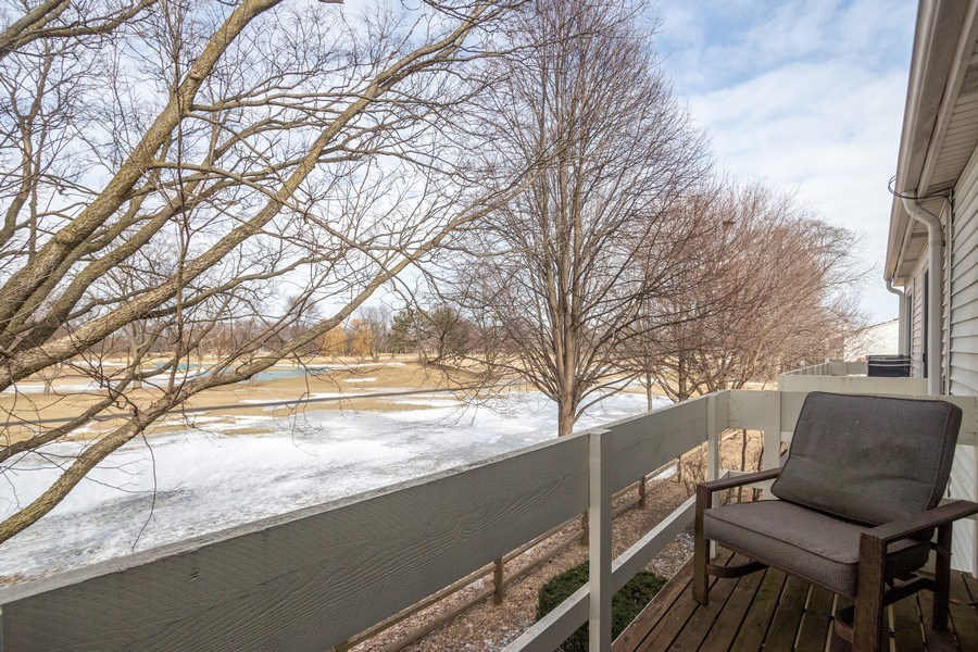 Real Estate Photography - 218 W. Wimbolton Drive, Mount Prospect, IL, 60056 - Master Balcony overlooking Old Orchard Country Clu