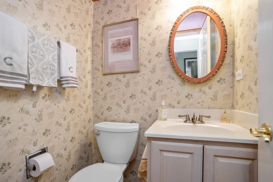 Real Estate Photography - 218 W. Wimbolton Drive, Mount Prospect, IL, 60056 - First Floor Powder Room