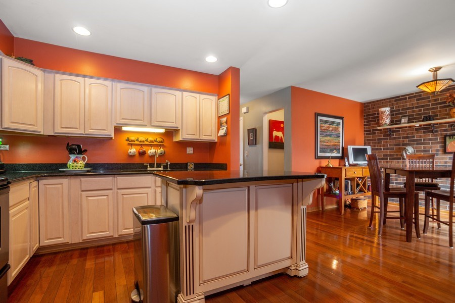Real Estate Photography - 218 W. Wimbolton Drive, Mount Prospect, IL, 60056 - Kitchen with Custom Movable Island