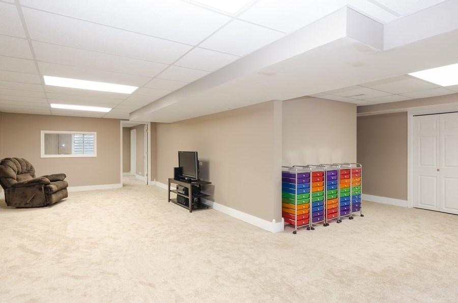 Real Estate Photography - 4700 WHITEHALL Court, Algonquin, IL, 60102 - Recreation Room in Finished Basement
