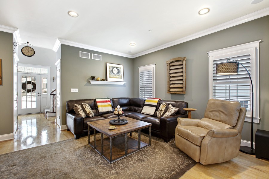 Real Estate Photography - 735 S. Grove Avenue, Barrington, IL, 60010 - Living Room