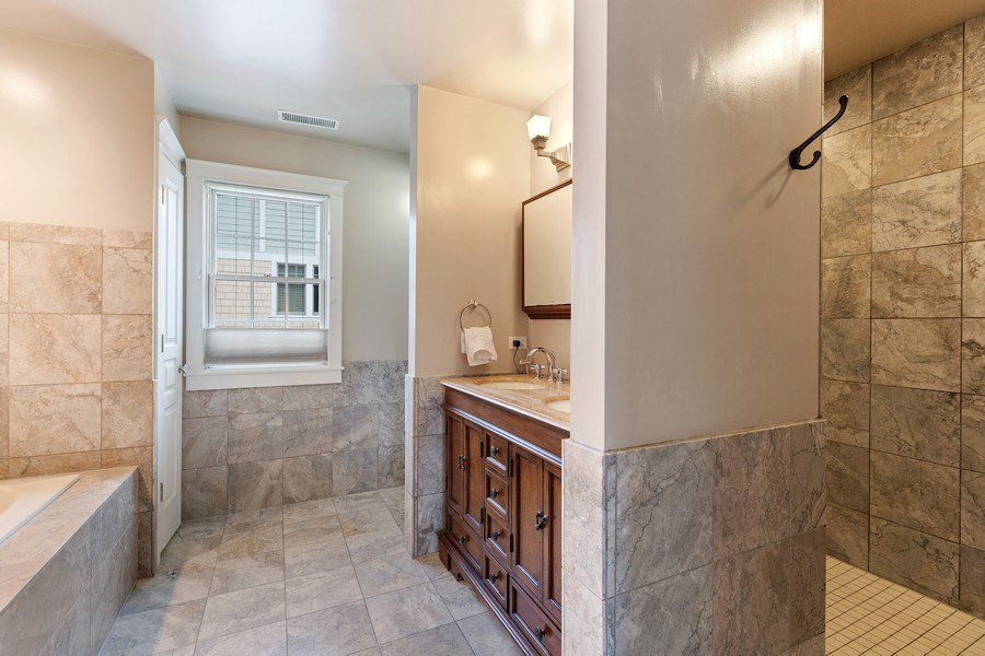 Real Estate Photography - 735 S. Grove Avenue, Barrington, IL, 60010 - Master Bathroom