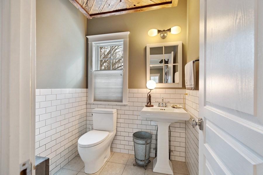 Real Estate Photography - 735 S. Grove Avenue, Barrington, IL, 60010 - Powder Room