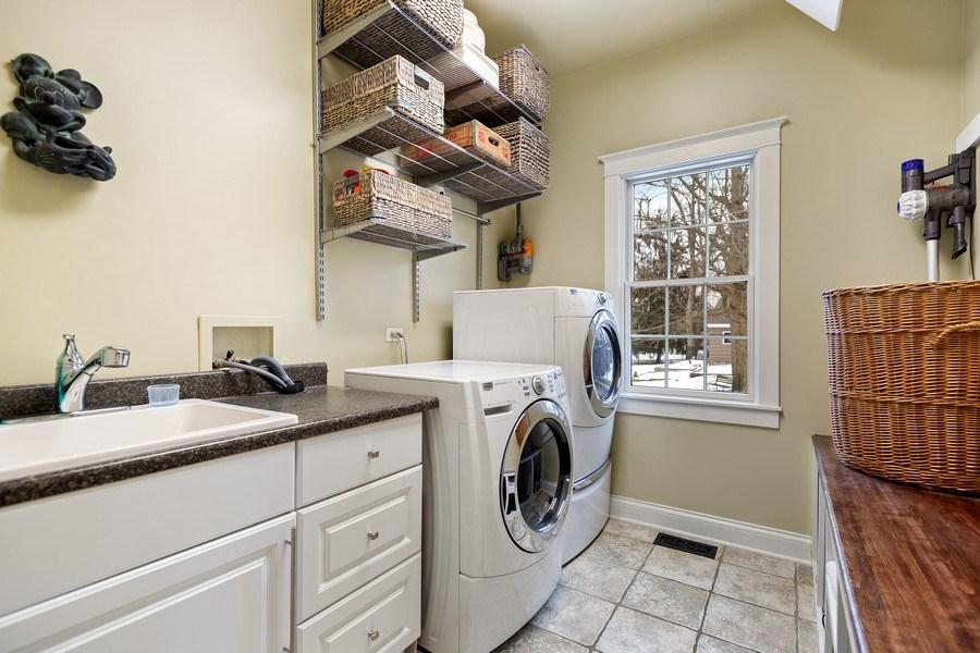 Real Estate Photography - 735 S. Grove Avenue, Barrington, IL, 60010 - Laundry Room