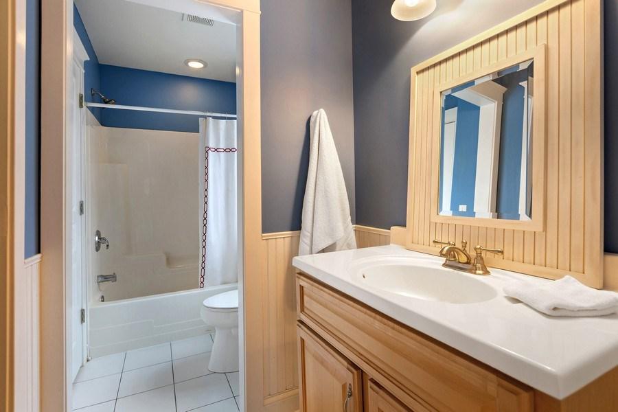 Real Estate Photography - 735 S. Grove Avenue, Barrington, IL, 60010 - 2nd Bathroom