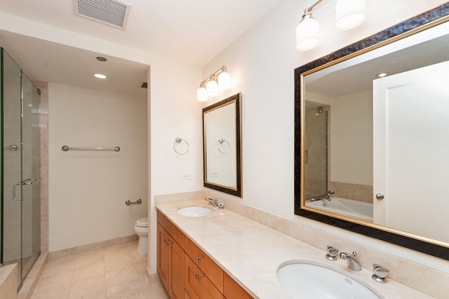 Real Estate Photography - 270 E. Pearson Street, Unit 203, Chicago, IL, 60611 - Master Bathroom