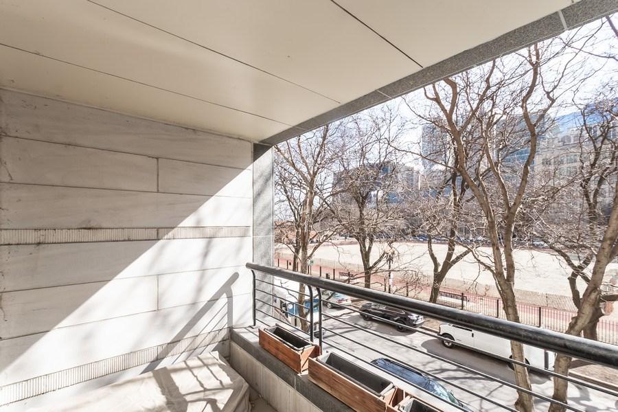 Real Estate Photography - 270 E. Pearson Street, Unit 203, Chicago, IL, 60611 - Balcony