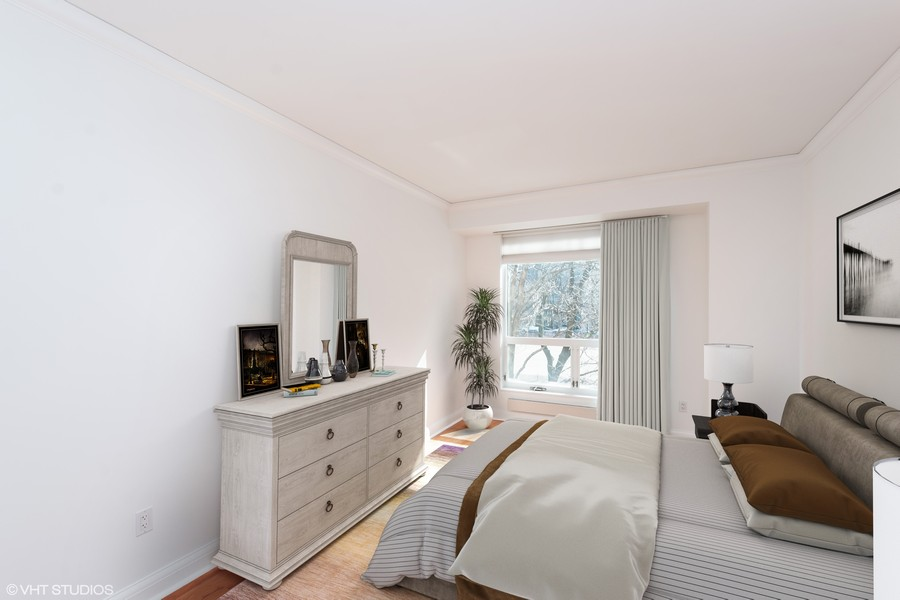 Real Estate Photography - 270 E. Pearson Street, Unit 203, Chicago, IL, 60611 - 2nd Bedroom