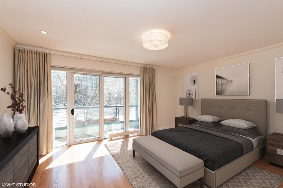 Real Estate Photography - 270 E. Pearson Street, Unit 203, Chicago, IL, 60611 - Master Bedroom