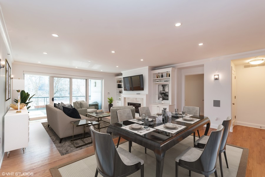 Real Estate Photography - 270 E. Pearson Street, Unit 203, Chicago, IL, 60611 - Living/Dining Room