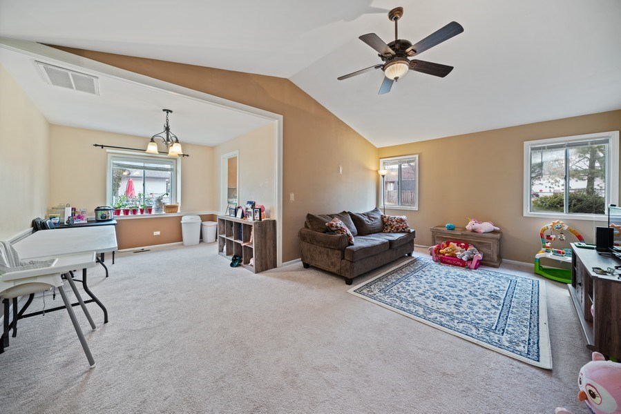 Real Estate Photography - 1115 Long Grove Drive, Aurora, IL, 60504 - Living Area