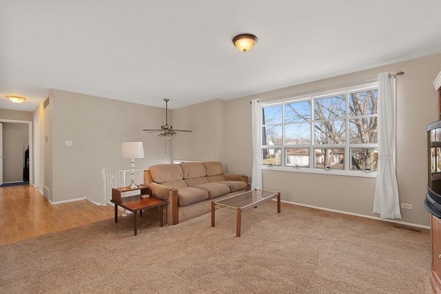Real Estate Photography - 1178 Windsor Drive, Wheaton, IL, 60189 - Living Room