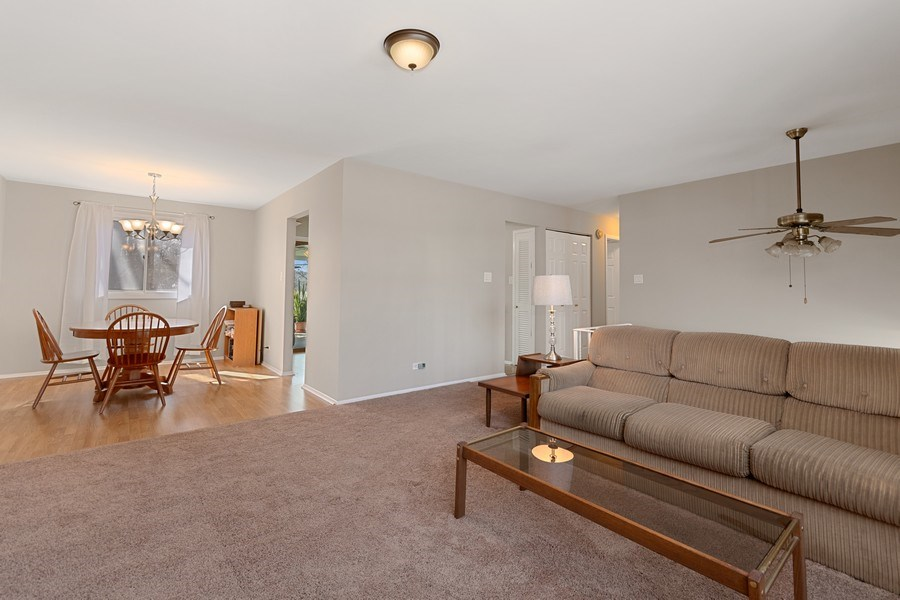Real Estate Photography - 1178 Windsor Drive, Wheaton, IL, 60189 - Dining and Living Room View