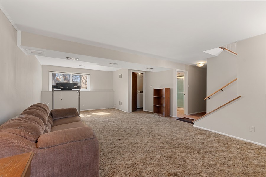 Real Estate Photography - 1178 Windsor Drive, Wheaton, IL, 60189 - Family Room