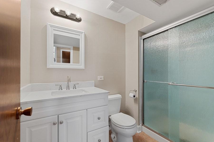 Real Estate Photography - 1178 Windsor Drive, Wheaton, IL, 60189 - Lower Level Bathroom