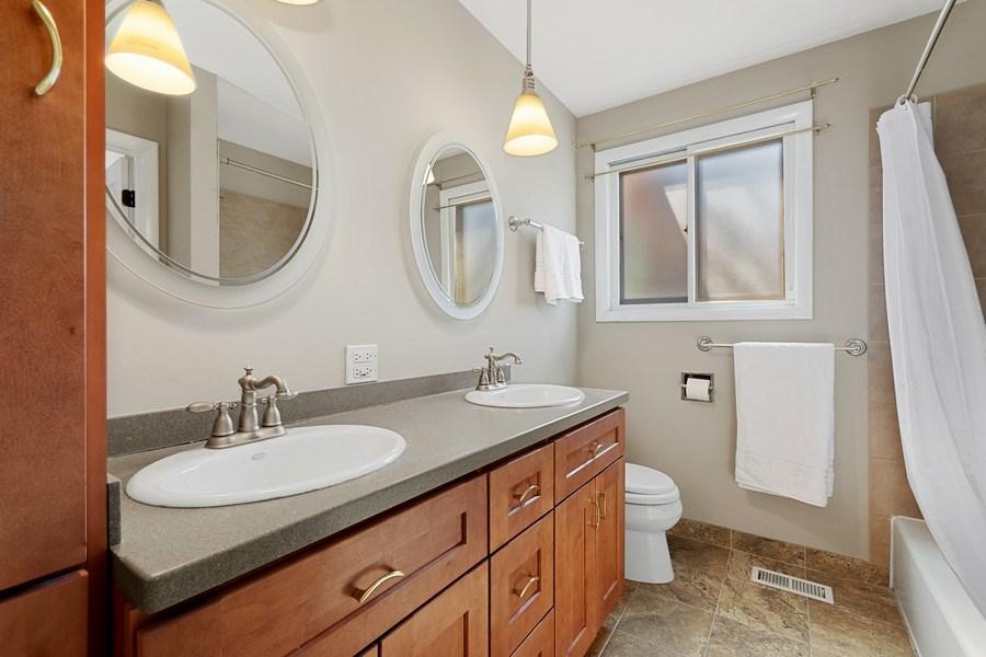 Real Estate Photography - 1178 Windsor Drive, Wheaton, IL, 60189 - Hall Bathroom
