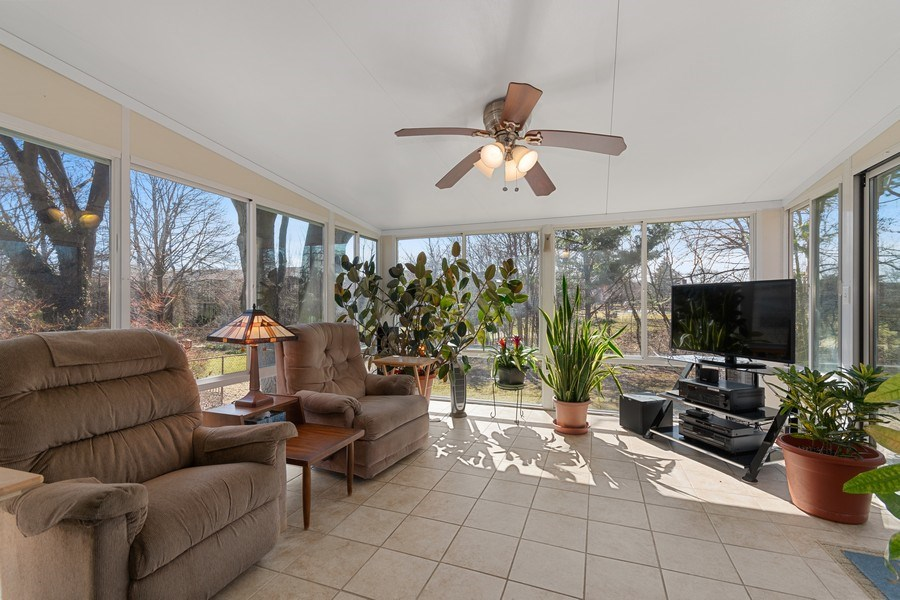 Real Estate Photography - 1178 Windsor Drive, Wheaton, IL, 60189 - Sun Room