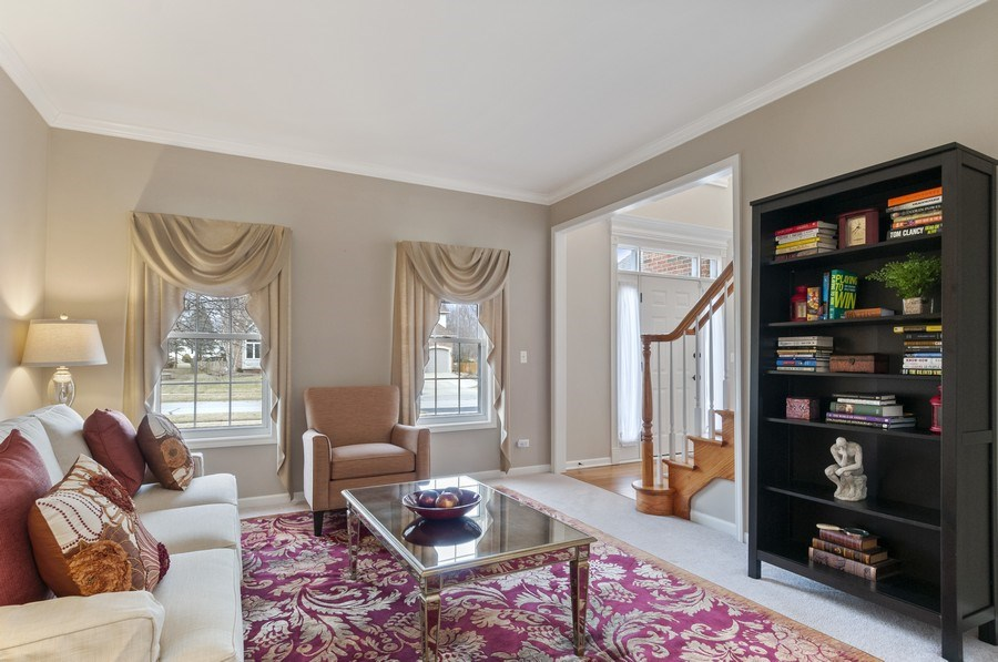 Real Estate Photography - 2608 FREELAND Circle, Naperville, IL, 60564 - Living Room