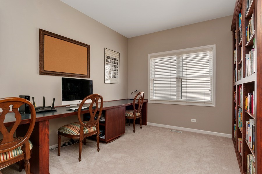 Real Estate Photography - 2608 FREELAND Circle, Naperville, IL, 60564 - Office