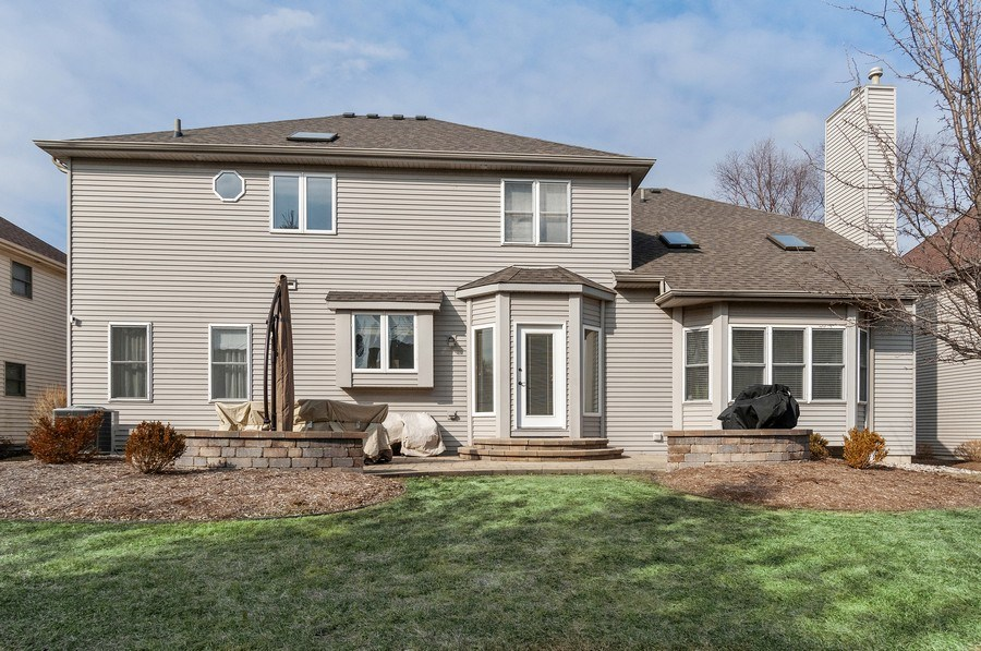 Real Estate Photography - 2608 FREELAND Circle, Naperville, IL, 60564 - Rear View