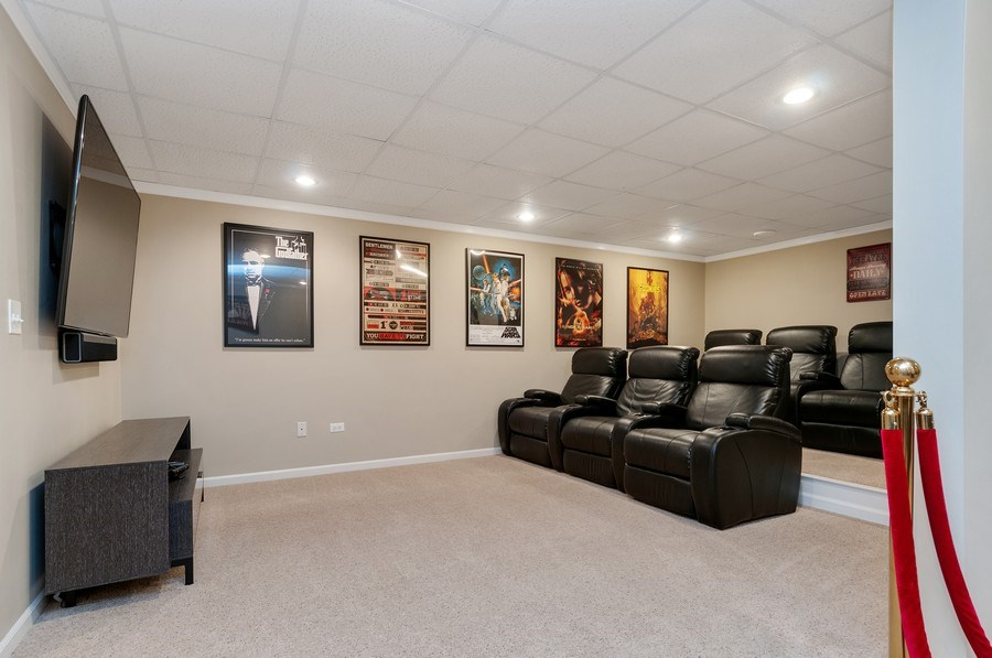 Real Estate Photography - 2608 FREELAND Circle, Naperville, IL, 60564 - Theater