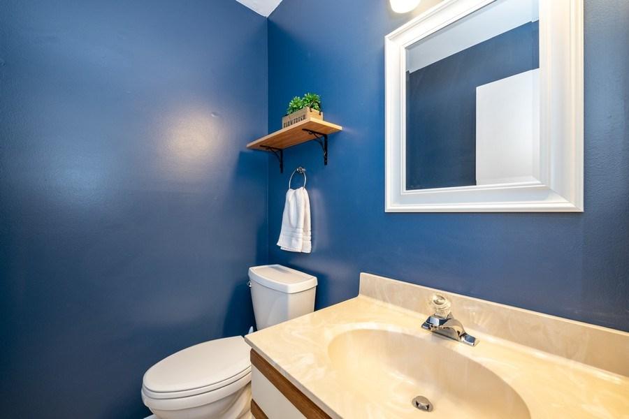 Real Estate Photography - 1424 Queensgreen Circle, Naperville, IL, 60563 - Half Bath