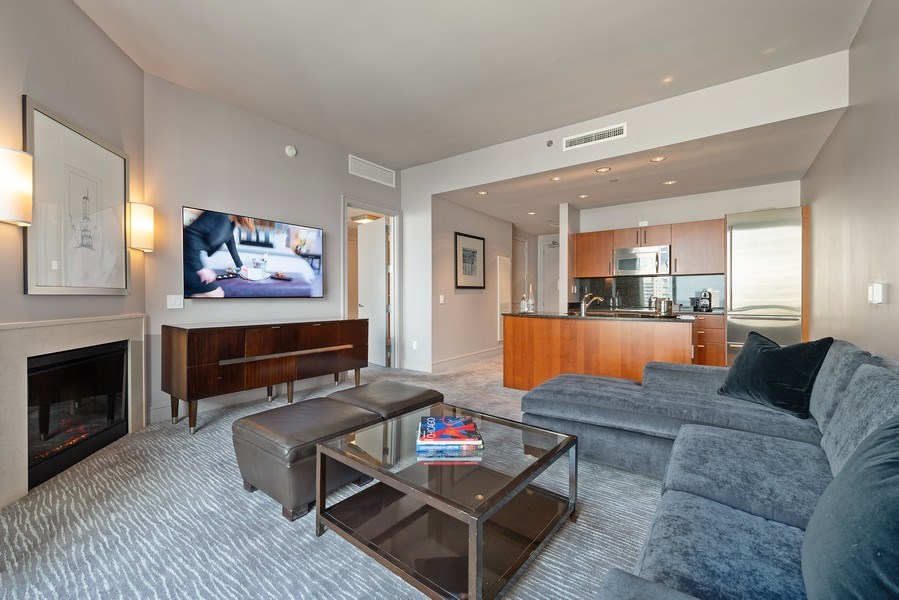 Real Estate Photography - 401 N. Wabash Avenue, Unit 2102, Chicago, IL, 60611 - Living Room