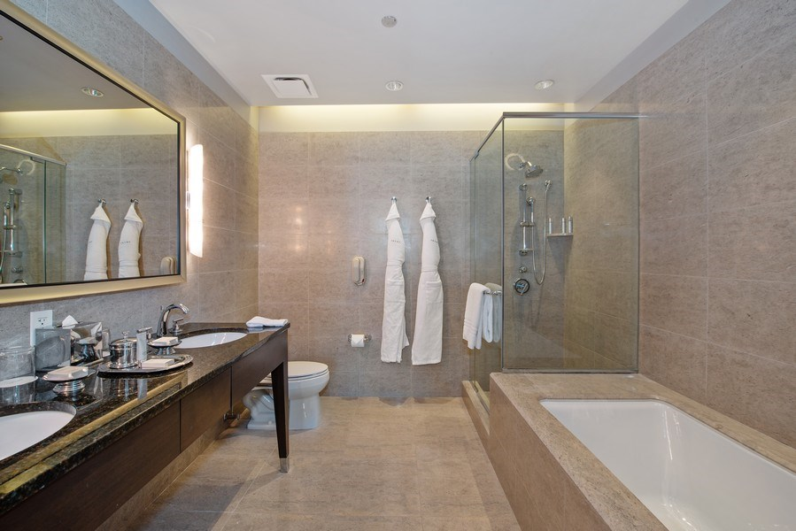 Real Estate Photography - 401 N. Wabash Avenue, Unit 2102, Chicago, IL, 60611 - Master Bathroom
