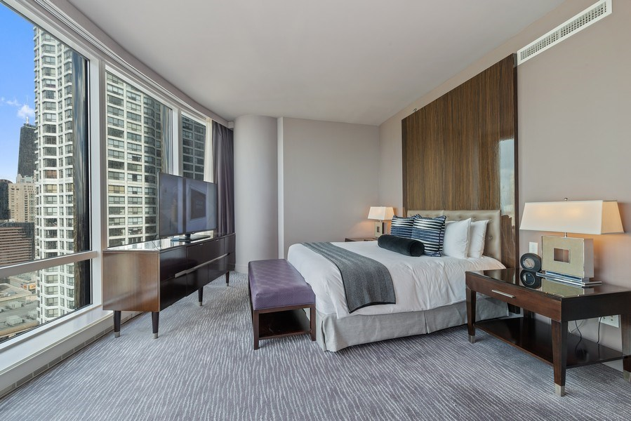 Real Estate Photography - 401 N. Wabash Avenue, Unit 2102, Chicago, IL, 60611 - Master Bedroom
