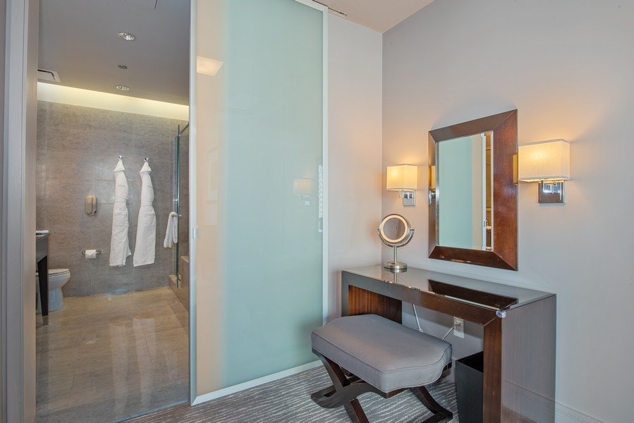Real Estate Photography - 401 N. Wabash Avenue, Unit 2102, Chicago, IL, 60611 - Dressing Area