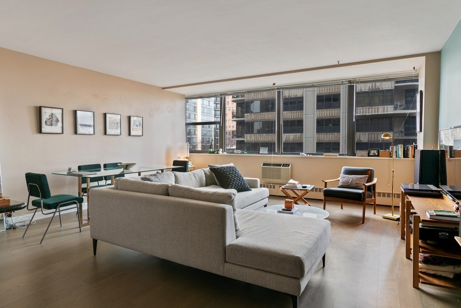 Real Estate Photography - 1445 N. STATE Parkway, Unit 603, Chicago, IL, 60610 - Living Room / Dining Room