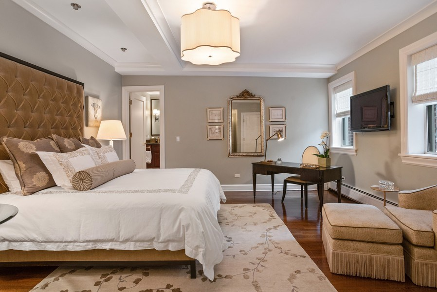 Real Estate Photography - 33 E. BELLEVUE Place, Unit PH-W7, Chicago, IL, 60611 - Master Bedroom