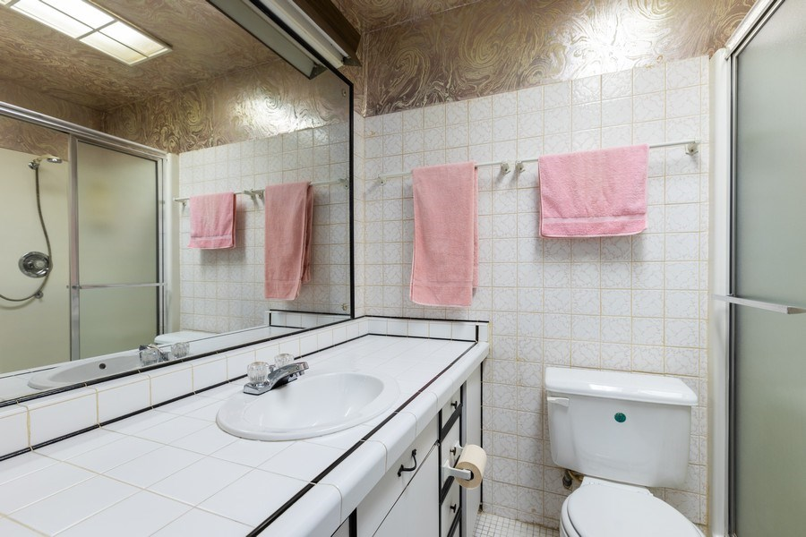 Real Estate Photography - 5143 North West Diversey Ave, Chicago, IL, 60639 - Master Bathroom